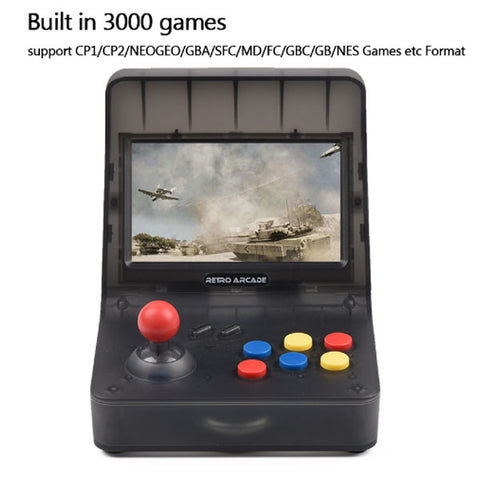 Image of Retro Handheld Game Console | Portable Mini Game Console | Classical Video Games Console | Family Game Console | 4.3 Inch 64 bit 3000
