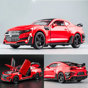 Camaro 1:32 High Simulation Alloy Diecast Car Model | Pull Back Sound Light Collection Car Toys | for Children's Christmas Gifts