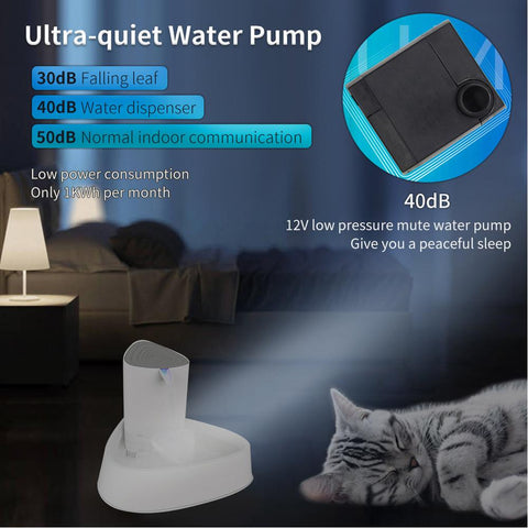 Image of BLUEKIEE™ Automatic Pet Cat Water Fountain, Dog Drinking Fountain Ultra Quiet, Cat Drinker Feeder Bowl Water Dispenser for Cats Pet Fountain