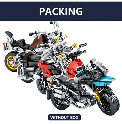 Image of BLUEKIEE™ City Creator Off-road Motorbike Model Building Blocks Technic Motorcycle DIY Assembling Bricks Kids Gifts Toys for Boys