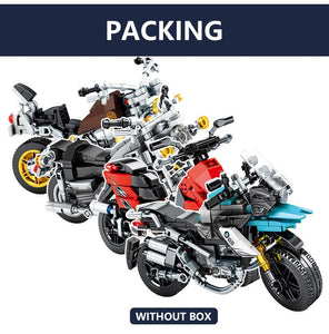 BLUEKIEE™ City Creator Off-road Motorbike Model Building Blocks Technic Motorcycle DIY Assembling Bricks Kids Gifts Toys for Boys
