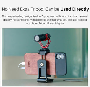 Top Foldable Mini Phone Tripod Head | Vertical 360 Rotation Tripod Stand | Tripod Mount Adapter For iPhone X 8 7 Samsung S8 7 Redmi