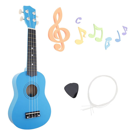 21 inch Ukulele Beginner Guitar | 4 String Guitar | For Children Kids Girls Gifts | Nylon Strings + Pick