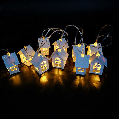 2M 10pcs LED Christmas Tree House Style Fairy Light | Led String Light | Wedding Natal Garland Christmas Decorations Light | for Home New Year Christmas Day