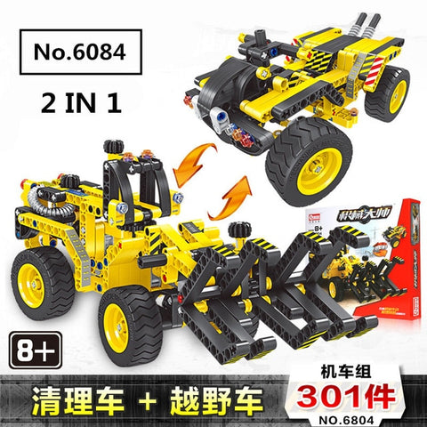 2 in 1 Technic Excavator Model Building Blocks Brick | Without Motors Set City Kids Toys | for Children Gift | 720pcs