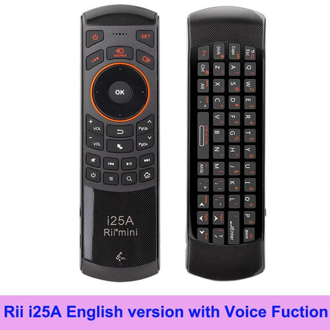 Image of Rii Mini i25A 2.4G Wireless Fly Air mouse Russian English Hebrew Keyboard Rii i25 Remote For Android TV Remote TV BOX