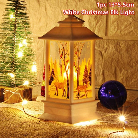 Merry Christmas LED Lights | Xmas LED Light | Noel Decor Santa | Pendants Drop Ornaments Christmas Table Decoration | for Home Christmas Day Party