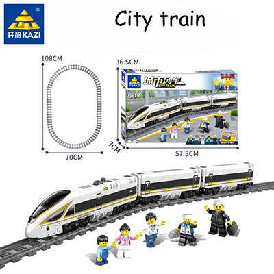 Image of Original Battery-powered Electric Train | Track Train Children Assembled Building Blocks Toys | For Children's Gifts Present