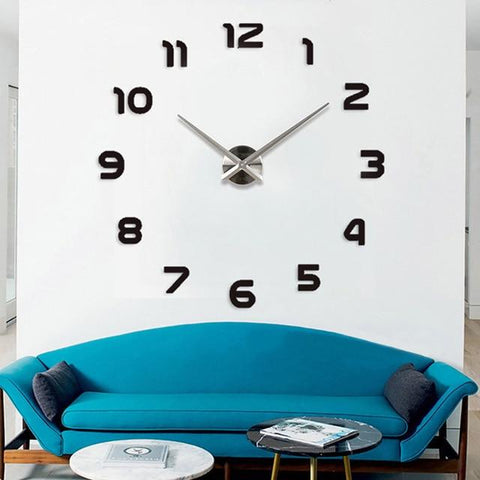 Image of BLUEKIEE™ New Luminous Wall Clocks Large Clock watch Horloge 3D DIY Acrylic Mirror Stickers Quartz Duvar Saat Klock Modern mute