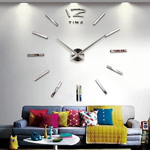 BLUEKIEE™ New Luminous Wall Clocks Large Clock watch Horloge 3D DIY Acrylic Mirror Stickers Quartz Duvar Saat Klock Modern mute