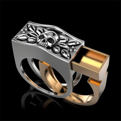 Image of BLUEKIEE™ Party Men Rings, Creative Watch Shaped Two-Tone Design Rings For Men Wedding Ring With Size 6-14 Male Jewelry Wholesale