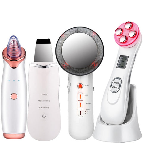 Image of EMS Mesotherapy RF Radio Frequency Facial Beauty + Blackhead Remover + Ultrasoic Skin Scrubber + Infrared Body Slimming Massager