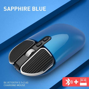 DIGITBLUE® Bluetooth 5.1+2.4G Wireless Dual Mode Rechargeable Mouse Optical USB Gaming Computer Charing Mause PC Mouse for Mac ipad Android