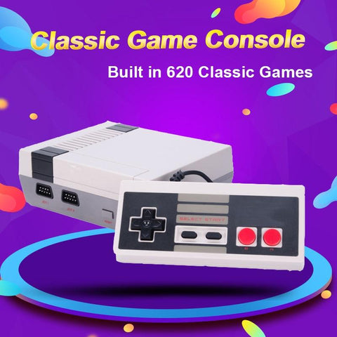 DIGITBLUE® Mini TV Video Game Console, NES 8 Bit console, Built-in 620 Retro Games, Support TV Output, Children's  Gift
