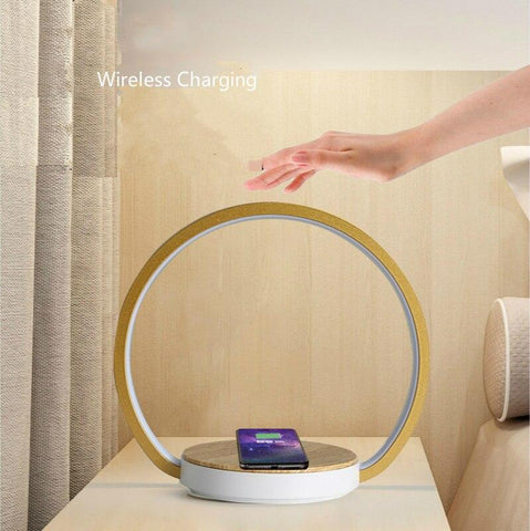 Image of DIGITBLUE® Bedside Lamp Qi Wireless Charger LED Desk Lamp with Touch Control 3 Light Hues,Table Lamp Eye-caring Reading Light