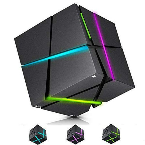Image of DIGITBLUE® Portable RGB LED Night Light with HIFI Bluetooth Speaker Table Lamp Rubik's Cube Mini Subwoofer Multifunctional Night Lamp New