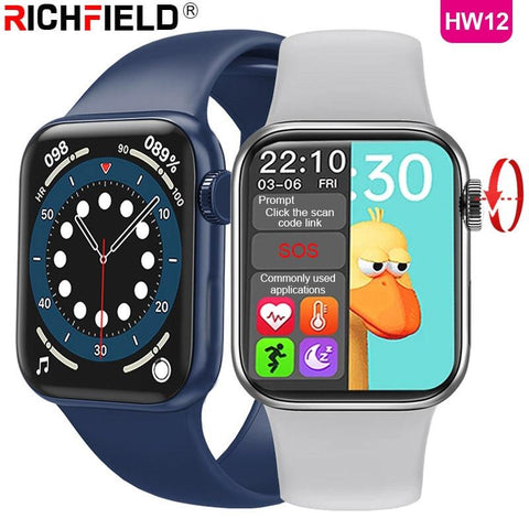 Image of DIGITBLUE® 2021 HW12 Smart Watch 1.57inch 40mm Bluetooth Call Password Split Screen Custom Picture Smartwatch Men Women PK IWO W26 W46 W56