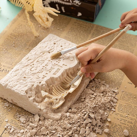 Image of BLUEKIEE™ Puzzle toys children's new archaeological dinosaur fossils excavation of Jurassic Tyrannosaurus Rex skeleton birthday gifts