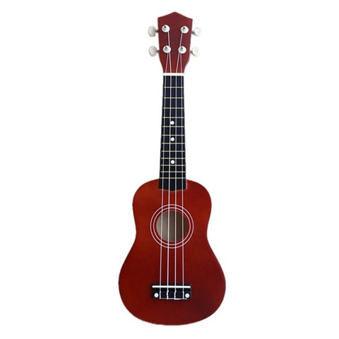 21 inch Ukulele Guitar | Soprano 4 Strings Beginner Guitar | Hawaiian Spruce Basswood Guitar | Uke + String + Pick Stringed Instrument