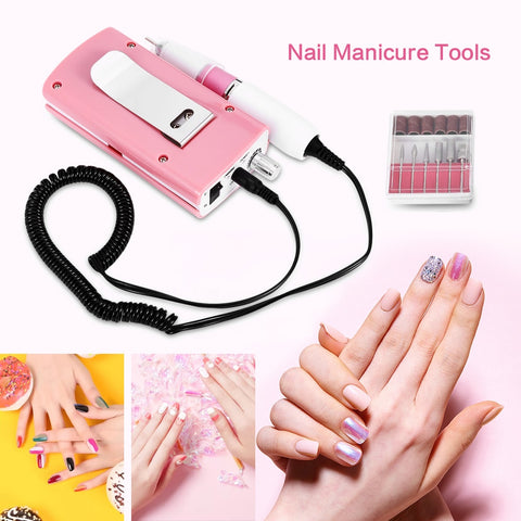 18W 30000RPM Nail Manicure Machine Acrylic Electric Manicure Apparatus Portable Nail Art Equipment Decorations for Nails