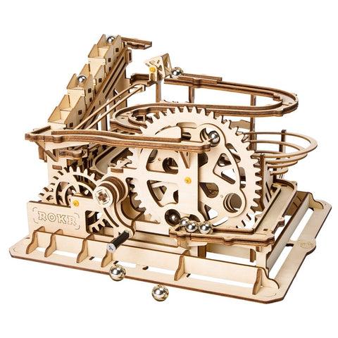 Image of DIGITBLUE DIY Waterwheel Coaster | 3D Wooden Puzzle Toy | 4 Kinds Marble Run Game | Building Craft Kits Assembly Toy | For Kids Adults
