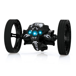 RC Bounce Car PEG RH803 2.4G Remote Control Toys Jumping Car with Flexible Wheels Rotation RC Robot LED Light Kid Gift