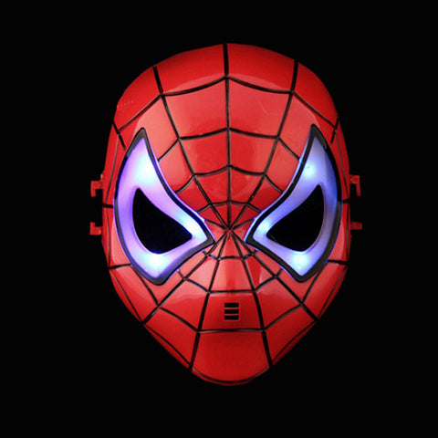 Image of LED Super Hero Mask | Hulk American Captain Iron Man Spiderman Batman Crazy Rubber Mask | Halloween Costume Party Mask | For Children Adult