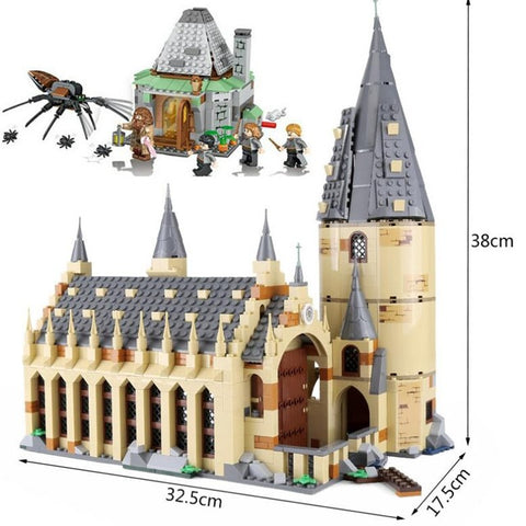 2019New Castle16052 983pcs Harri Potter Series Hogwarts Great Hall Building Blocks Brick Educational Toys Compatible 75954