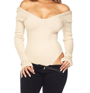 ARI LONG SLEEVE BODYSUIT (Soft Taupe)
