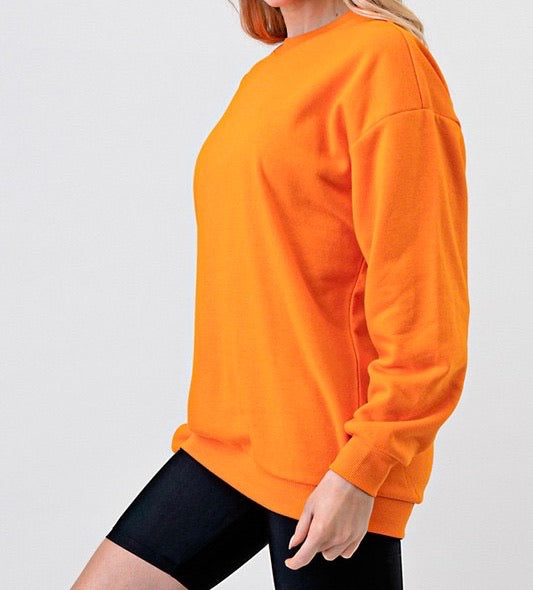Bria Crew Neck Sweater (Orange)