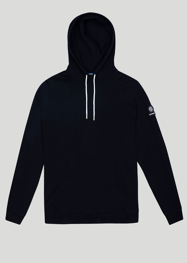 Sandbanks Logo Badge Hoodie - Black - sandbanksco.com