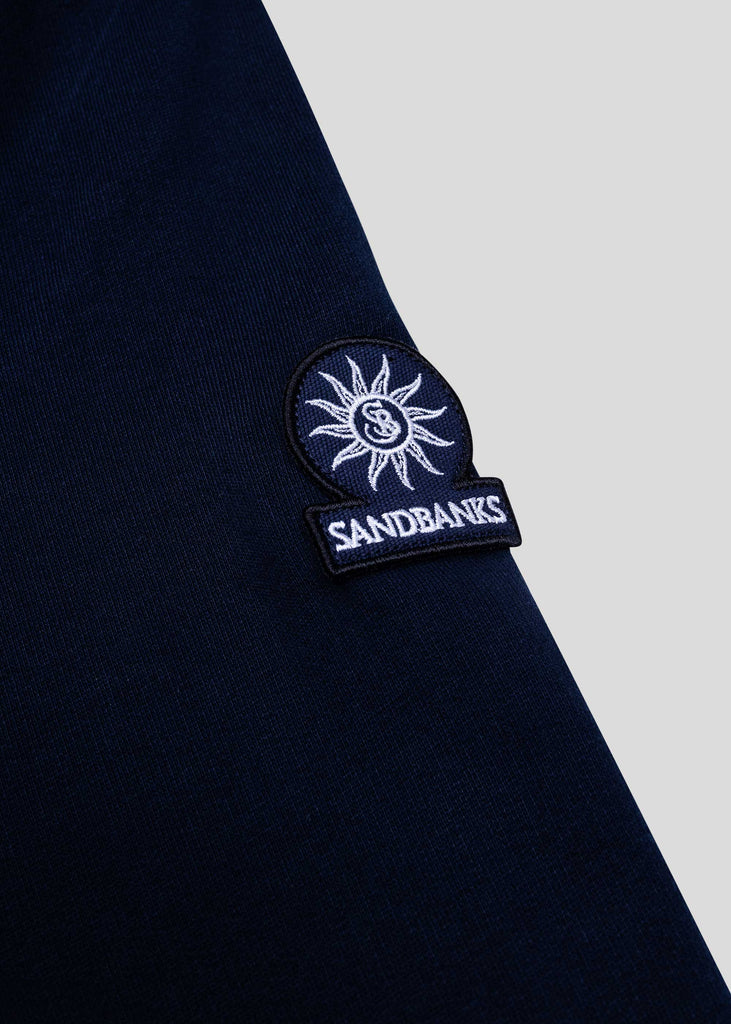 Sandbanks Logo Badge Hoodie - Navy - sandbanksco.com