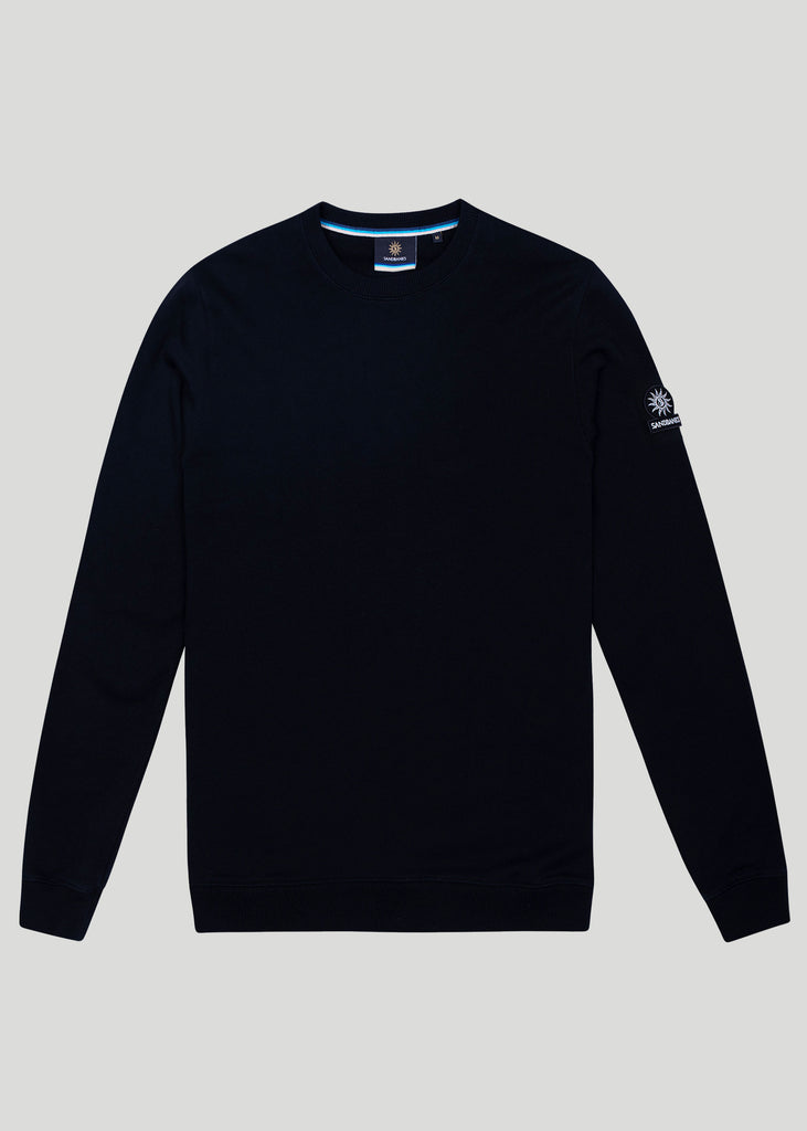 Sandbanks Logo Badge Sweatshirt - Black - sandbanksco.com