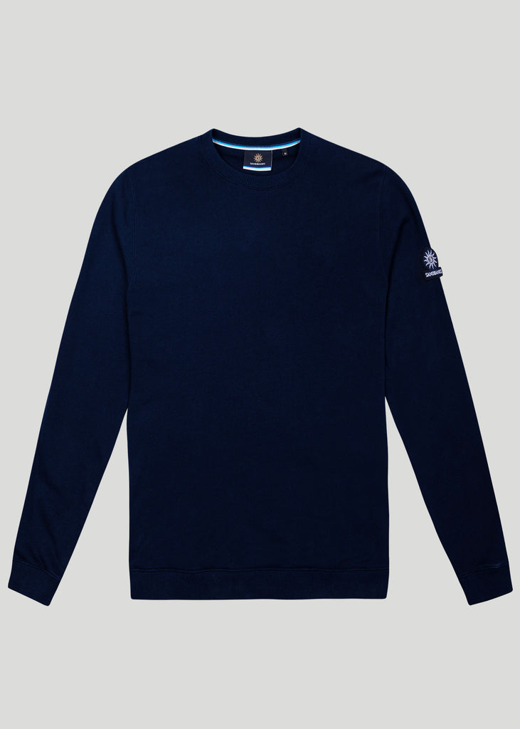 Sandbanks Logo Badge Sweatshirt - Navy - sandbanksco.com