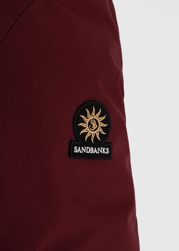 Sandbanks Shore Reversible Bomber Jacket - Black / Burgundy - sandbanksco.com