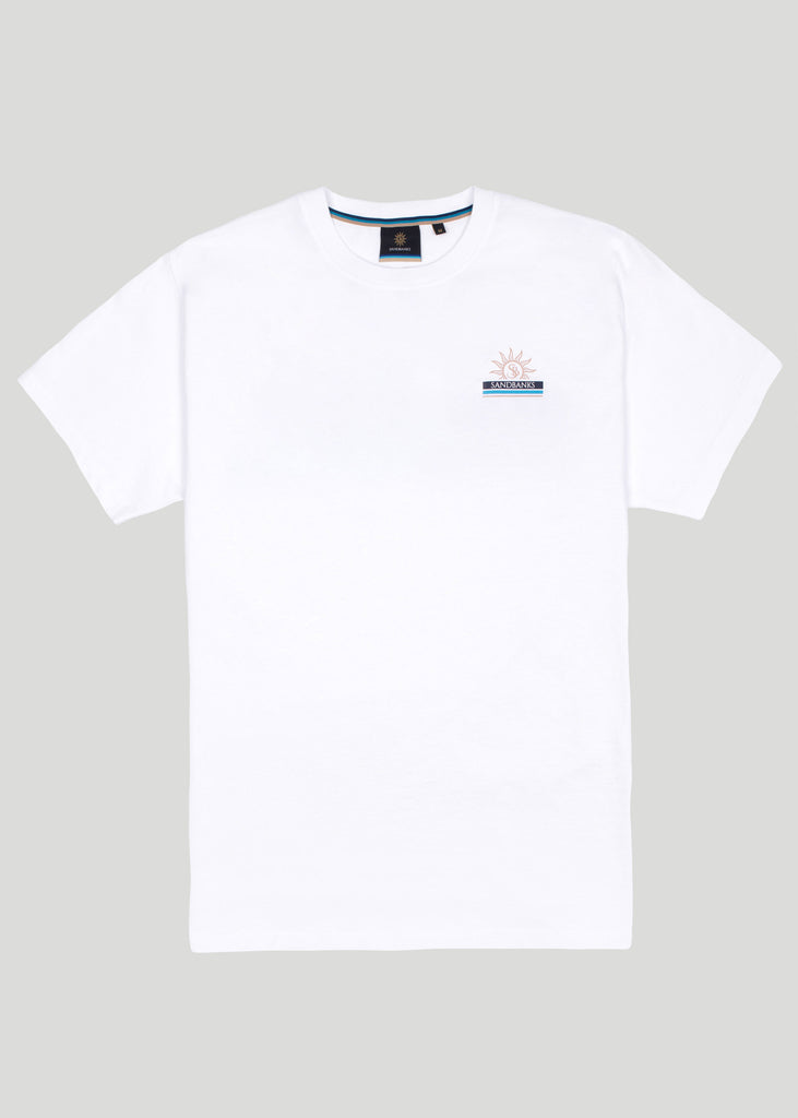 Sandbanks Horizon T-Shirt - White - sandbanksco.com