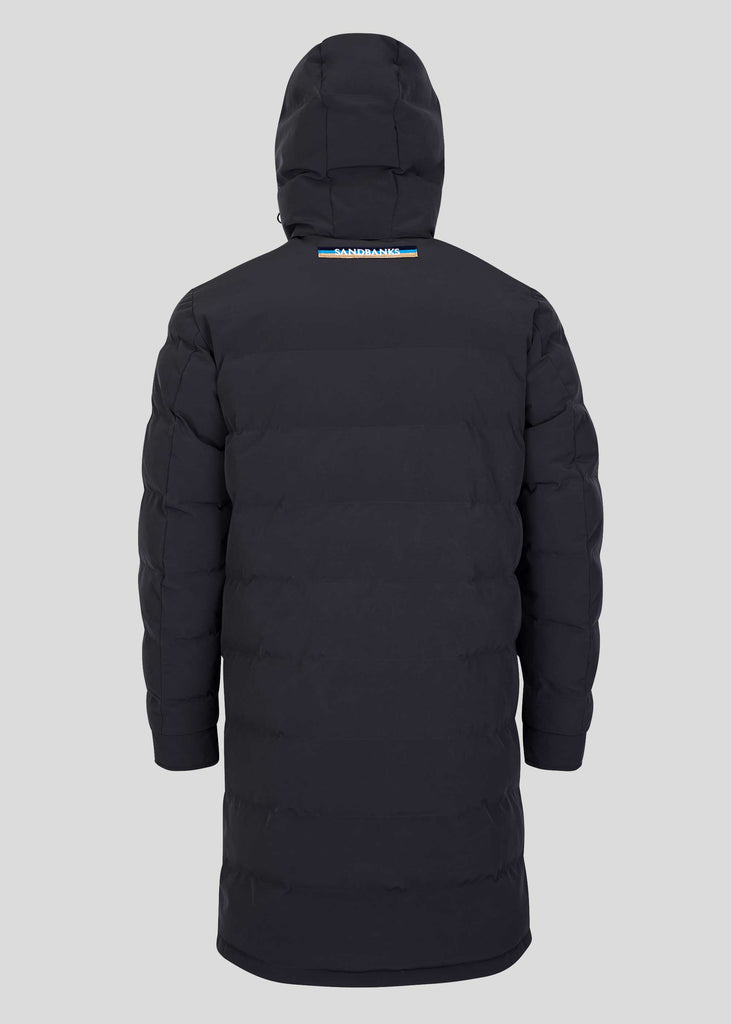 Sandbanks Branksome Long Puffer Jacket - Black - sandbanksco.com
