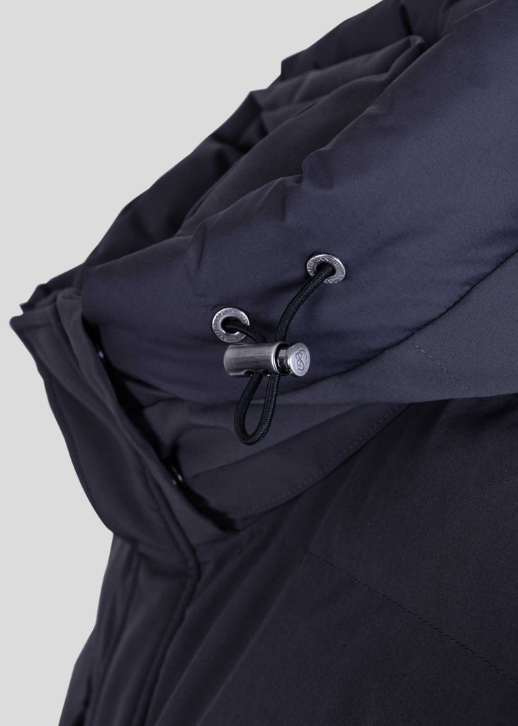 Sandbanks Branksome Long Puffer Jacket - Charcoal - sandbanksco.com