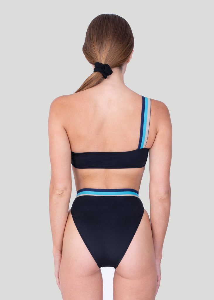 Sandbanks High Waisted Bikini Bottom - Black - sandbanksco.com