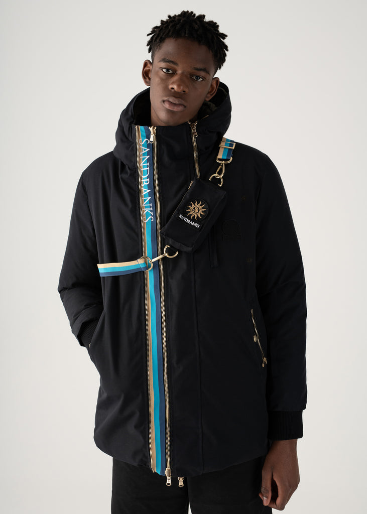 Sandbanks Panorama Reversible Parka Jacket - Black/Khaki - sandbanksco.com