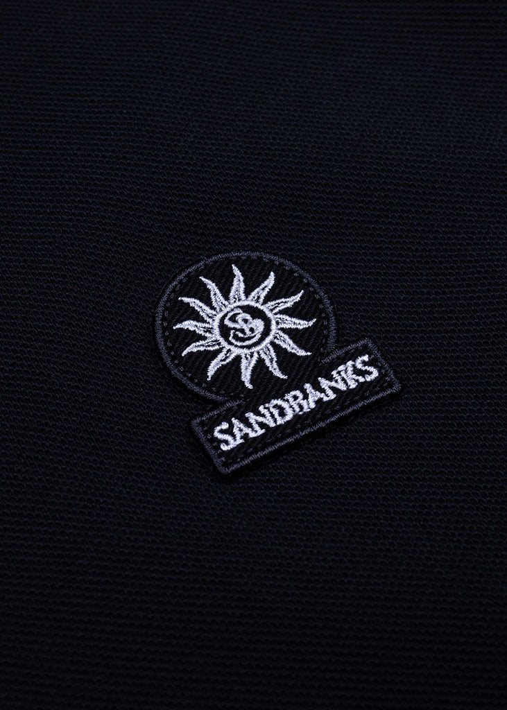 Sandbanks Badge Logo Polo Shirt - Black - sandbanksco.com