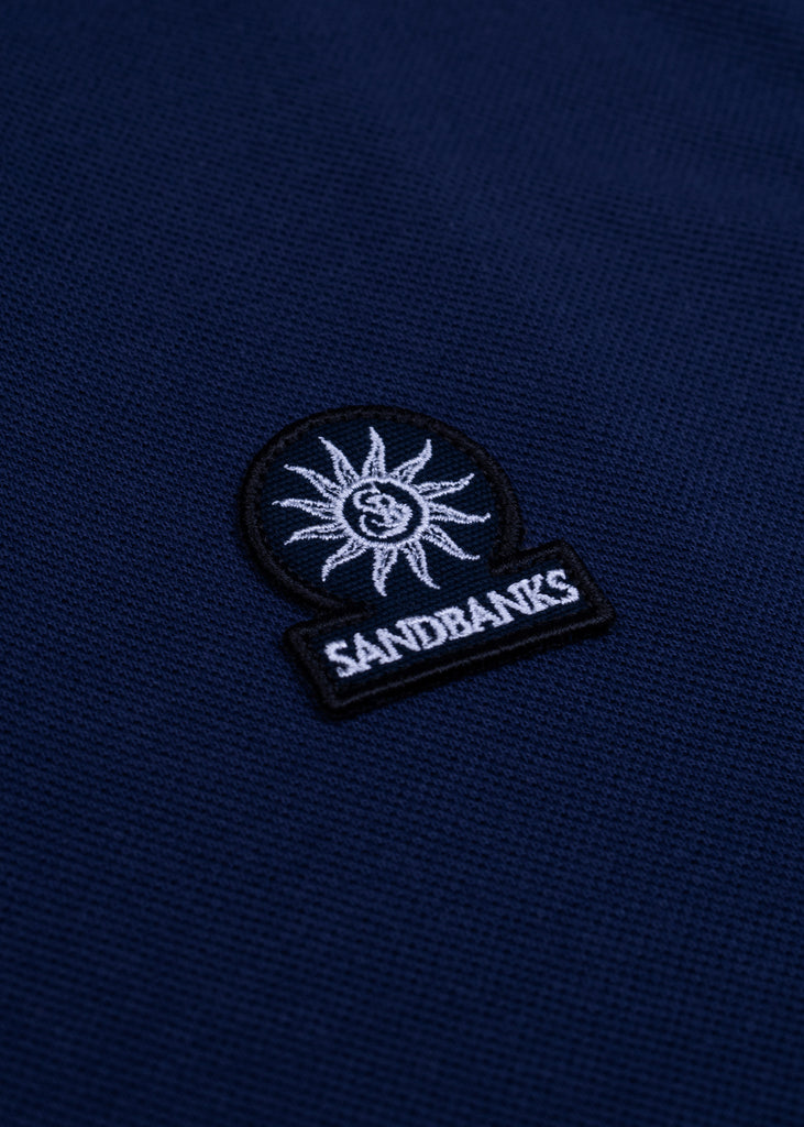 Sandbanks Badge Logo Polo Shirt - Navy - sandbanksco.com