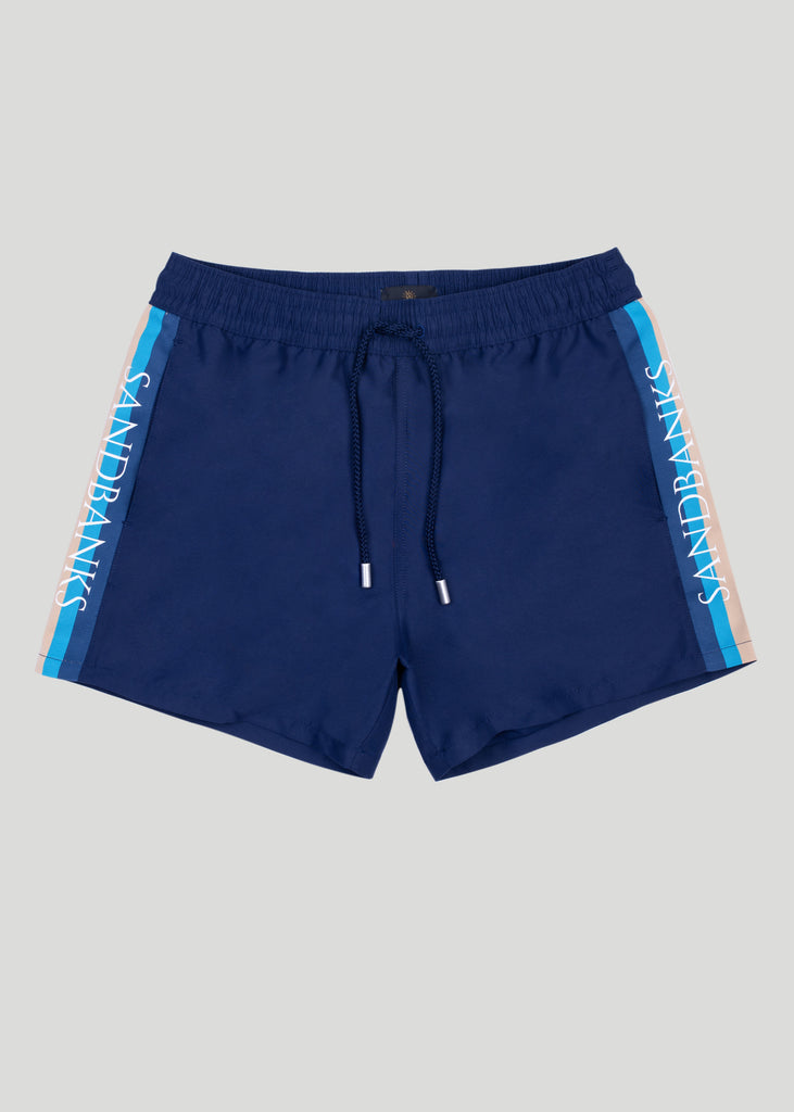 Sandbanks Retro Swim Shorts - Navy - sandbanksco.com