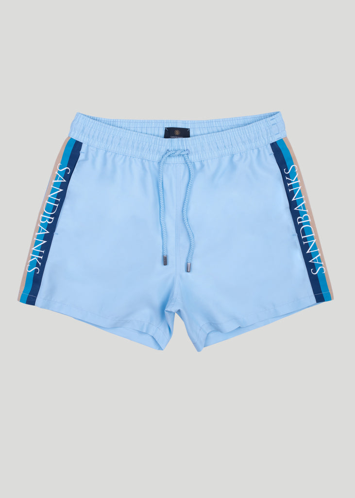 Sandbanks Retro Swim Shorts - Crystal Blue - sandbanksco.com