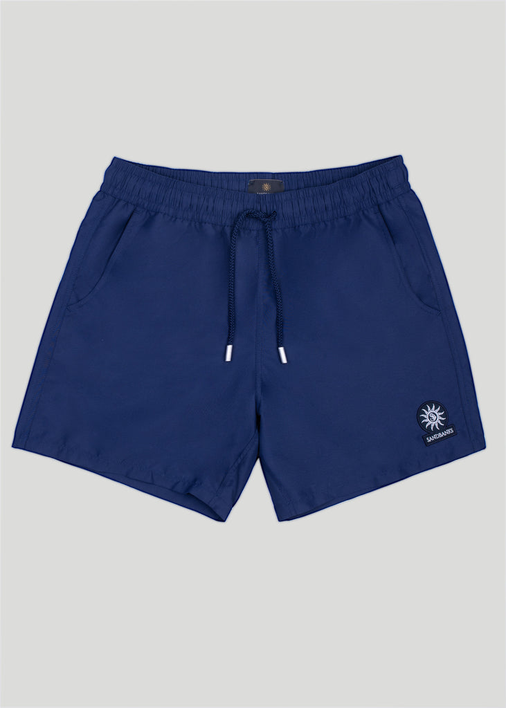 Sandbanks Badge Logo Swim Shorts - Navy - sandbanksco.com
