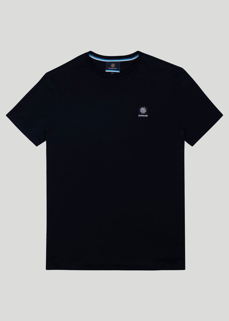 Sandbanks Badge Logo T-Shirt - Black - sandbanksco.com