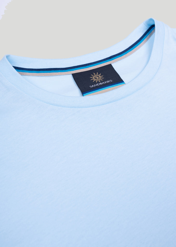 Sandbanks Badge Logo T-Shirt - Crystal Blue - sandbanksco.com