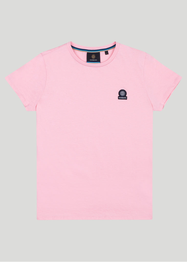 Sandbanks Badge Logo T-Shirt - Crystal Rose - sandbanksco.com