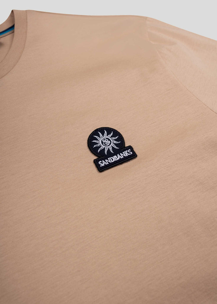 Sandbanks Badge Logo T-Shirt - Sand - sandbanksco.com