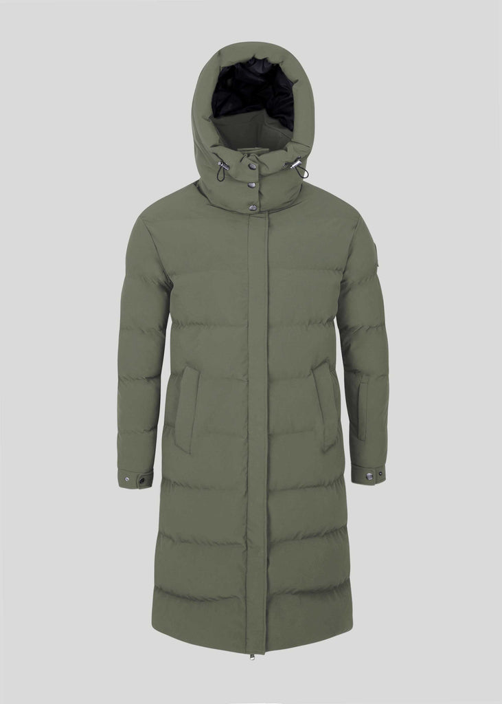 Sandbanks Haven Oversized Long Puffer - Khaki - sandbanksco.com